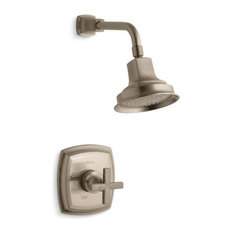 Kohler Margaux Shower Valve Trim, and 2.5 GPM Showerhead, Vibrant Brushed Bronze