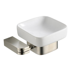 Fresca Solido Soap Dish, Brushed Nickel