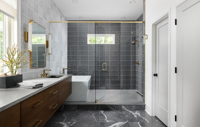 Bathroom of the Week: Luxe Spa Feel With a 'Mad Men' Vibe