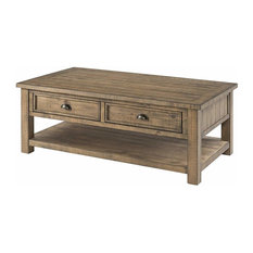 Monterey Solid Wood Coffee Table, Reclaimed Natural