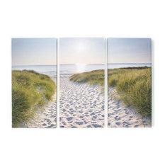Beach Walk Printed Canvas