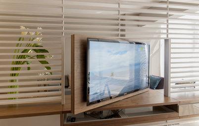 Und weg ist der Bildschirm! TV-Möbel mit Special Effects