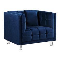 Mariel Velvet Chair Navy