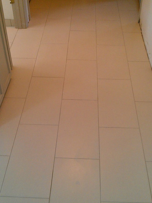 Floor 12 Quot X 24 Quot Porcelain Tile On Offset Pattern