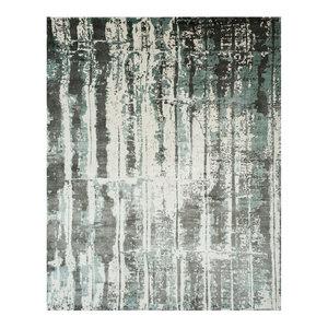 Studio Seven Hand Loomed Area Rug, MIR267B, Silver/Grey,  8' X 10'