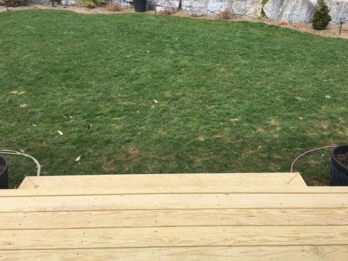 Help Landscaping Around Deck Stairs Zone 6b
