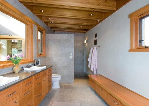 Doorless Shower Stall