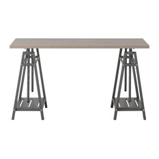 Homestar Height Adjustable Desk, Reclaimed Wood Finsh