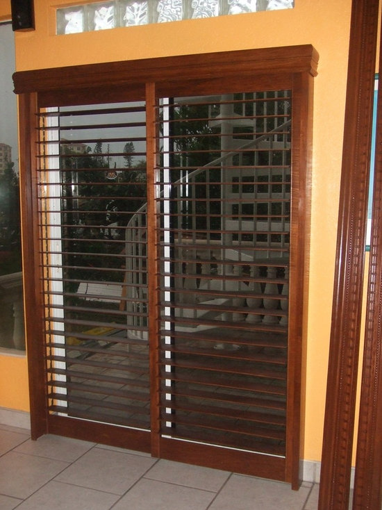 Plantation Shutters For Sliding Glass Door   Shutter Sliders   Interior  Shutters