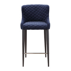 Moe S Home Collection Etta Counter Stool Dark Blue Bar Stools And