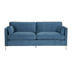 "Demi 84"" Mid-Century Sofa, Bella Slate"