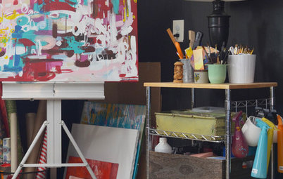 Creative Spaces: Once a Garage, Now an Art Studio and Office