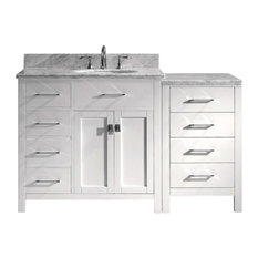 "Caroline Parkway 57"" Single Bathroom Vanity Cabinet Set, White"