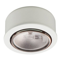 Round Halogen Button Light, White