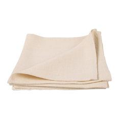 Cream Linen Napkin Lara, Set of Four