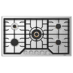Robam - Robam 20,000 BTU Cooktop with Brass Burners, 36, 5 Burners - - PROFESSIONAL QUALITY COOKTOP : Simple and minimalist, the 5 burner gas cooktop features a stainless steel surface with matte cast iron grates. The stylish countertop stove is designed to enhance any modern kitchen.