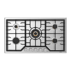 Robam 20,000 BTU Cooktop with Brass Burners, 36, 5 Burners