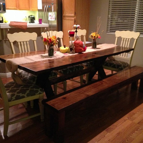 7ft Trestle Dining Table Tables
