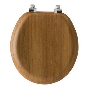 Phenomenal Bemis Round Wood Toilet Seat Oak Transitional Toilet Short Links Chair Design For Home Short Linksinfo