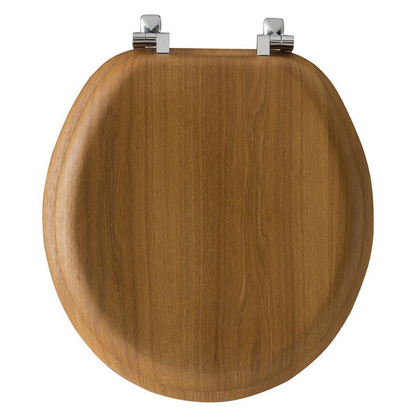 Bemis 9601CP 378 Natural Reflections Wood Round Toilet Seat, Oak Venee