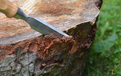 DIY : Transformer un rondin de bois en table basse à roulettes