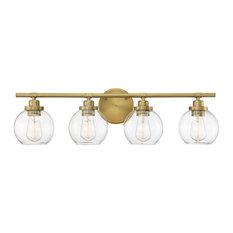 "Savoy House 8-4050-4 Carson 4 Light 30""W Bathroom Vanity Light - Brass"