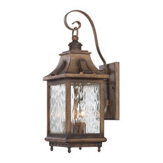 The Great Outdoors Wilshire Park 3 Light Outdoor Wall Sconce
