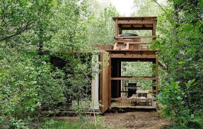 Architecture : Une cabane dans les bois dans les Ardennes belges
