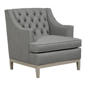 Carmel Button Tufted Back Chair Jute