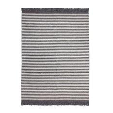Natura Grey Striped Area Rug, 120x170 cm