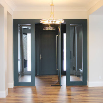 New Home in Bettendorf Quad Cities with Modern Lighting and Custom Cabinetry