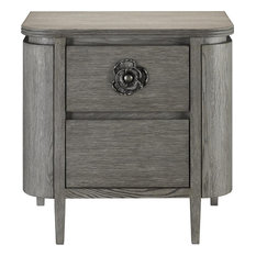 CURREY BRIALLEN Nightstand Antique Silver Winter Gray Cast