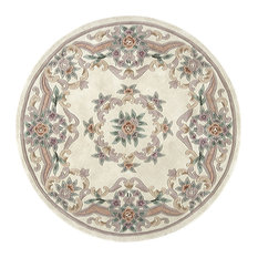 New Aubusson, Ivory, 6' Round