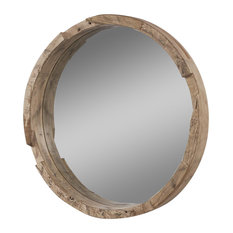 Capital Lighting Round Wood Mirror
