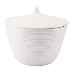 Zuo Decor Ceramic Jar, White