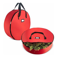 ZOBER Wreath Storage Bag Fits 30 in Wreath-Set Of 2