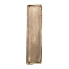 Raised Finger Plate, Renovated Brass