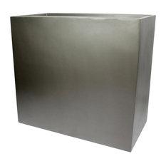"Calistoga Tall Rectangle Planter Box, Gray, 48""x12""x30"""