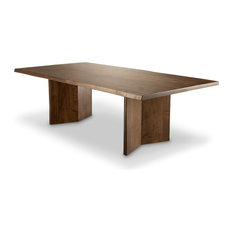 Arcadia Live Edge Dining Table Brown Cherry 48-inchx108-inch
