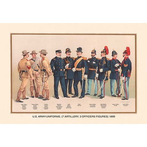 Uniforms 4 Cavalry 2 Engineers 1 Hospital 2 Staff 2 Signal Corps 1899 Traditional Prints And Posters By Buyenlarge Inc