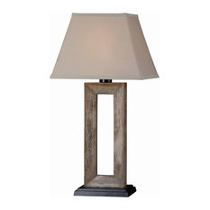 Egress 1-Light Outdoor Table Lamp, Natural Slate, Clear Glass