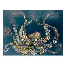 Greenbox Art Culture Octopus In The Deep Blue Sea Canvas Wall Art