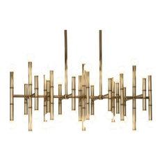 Jonathan Adler Meurice 42-Light Chandelier, Modern Brass