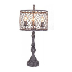 Ahs Lighting Nyack Table Lamp Chandelier Sockets Mesh Shade