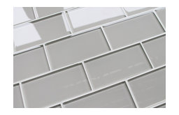 Country Cottage Light Taupe 3x6 Glass Subway Tile, Sample