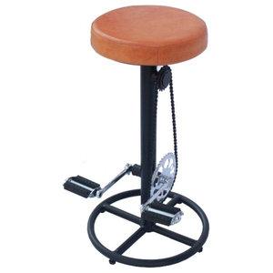 Astonishing Bicycle Pedal Bar Stool Custom Leather Seat Bar Stools Evergreenethics Interior Chair Design Evergreenethicsorg
