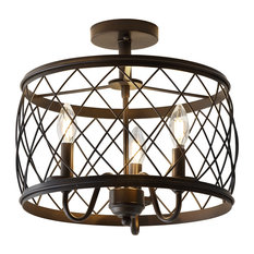 "Eleanor 15"" Metal LED Flush Mount Ceiling Light, Oil Rubbed Bronze"