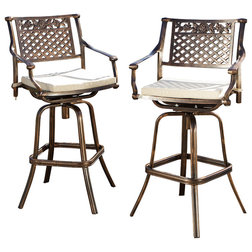 Luxury Contemporary Outdoor Bar Stools And Counter Stools by GDFStudio