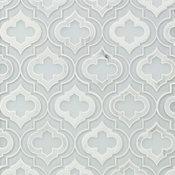 Chelsea Random Sized Marble Mosaic Tile, Super White/Asian Statuary, Super White