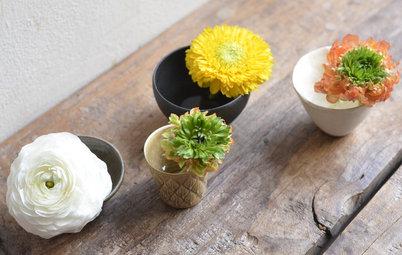 春の花を愉しむ花器のアイデア